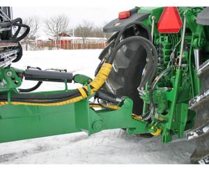 Hákový nosič kontejnerů za traktor