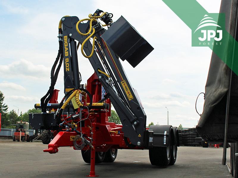 hydraulický jeřáb na traktorové nosiče kontejnerů Bigab